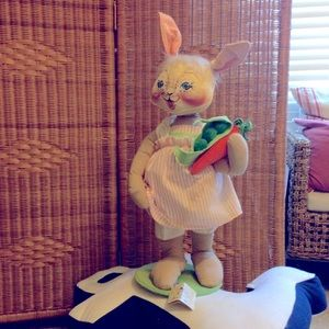 Vintage Annalee large Easter bunny  with tags 24""